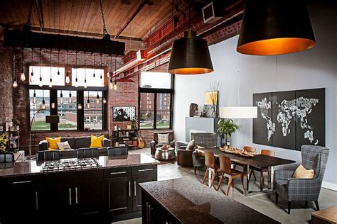 elegant urban loft embraces texture industrial aesthetics
