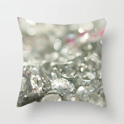 Sparkly Pillows by Sparkly Rhinestones Throw Pillow Shabby Chic Throw