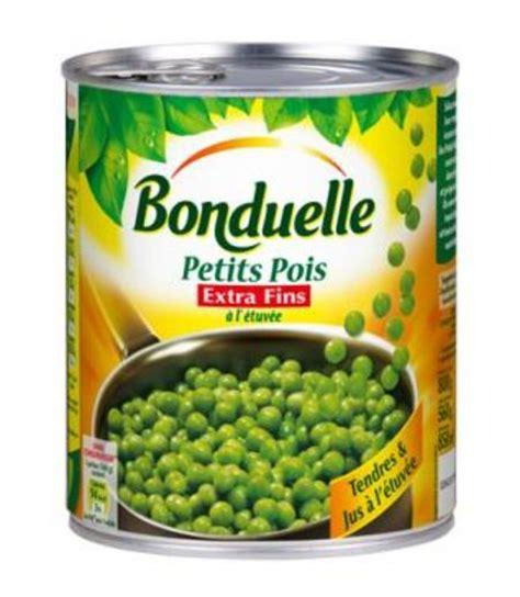cuisiner petit pois en boite petits pois 224 l 233 tuv 233 e fins de bonduelle