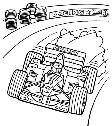 track racing coloring page formula  car coloring