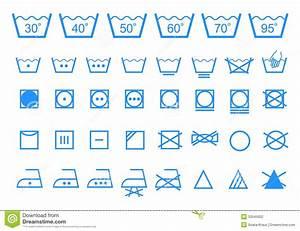 Symboles Lavage Vêtements : symboles de lavage de soin ensemble d 39 ic ne de vecteur ~ Melissatoandfro.com Idées de Décoration