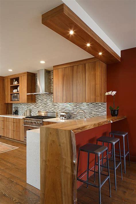 edge counter bar kitchen contemporary  wood