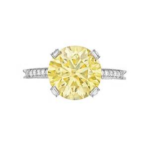 gold engagement ring and wedding band fancy yellow ring betteridge