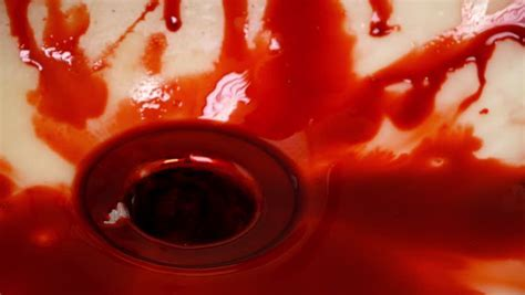 Lots Of Blood In Sink Stock Footage Video 6239498