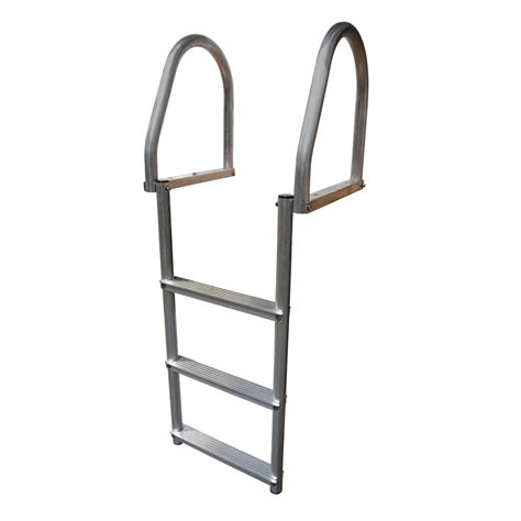 Boat Dock Ladder Parts by Dock Edge Aluminum 3 Step Eco Flip Up Dock Ladder Weld Free