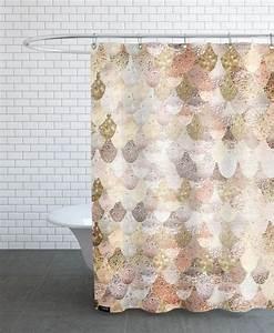 Rideau Rose Gold : mermaid gold as shower curtain by monika strigel juniqe bathroom remodel pink gold silver ~ Teatrodelosmanantiales.com Idées de Décoration