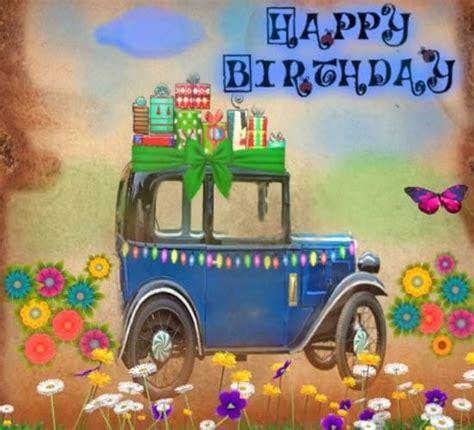 happy birthday vintage car  happy birthday ecards