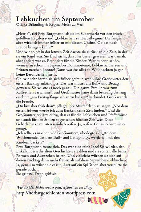 Lebkuchen Im September  Adventsweihnachtsgeschichten Und