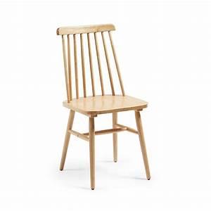 Chaise Bois Vintage : lot de 2 chaises en bois vintage tressia par ~ Teatrodelosmanantiales.com Idées de Décoration