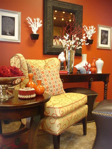 orange living room design ideas