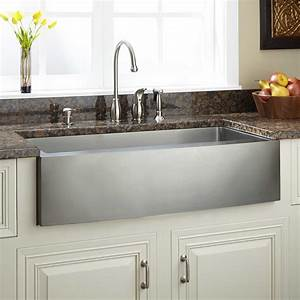 39quot optimum stainless steel farmhouse sink curved apron With 39 inch farmhouse sink