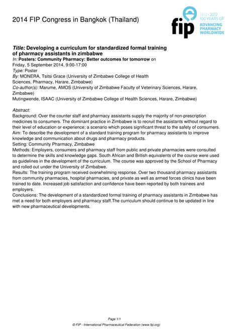 (PDF) Developing a curriculum for standardized formal