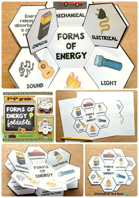 forms of energy interactive science notebook foldables