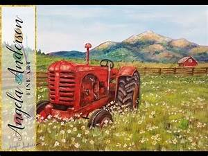 Acrylic Painting Tutorial: Rustic Country Tractor ...