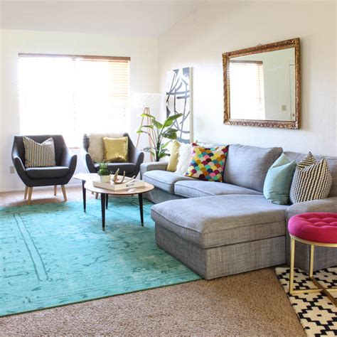 colorful living room sets colorful mid century glam living room makeover