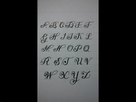 calligraphy alphabet az  beginners calligraphy