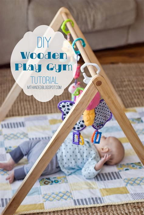 empty handed wooden baby gym tutorial