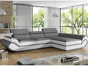 Schlafsofa Mit Ecke : sofa mit ecke rechts verstellbar kunstleder grau wei orleans ~ Markanthonyermac.com Haus und Dekorationen