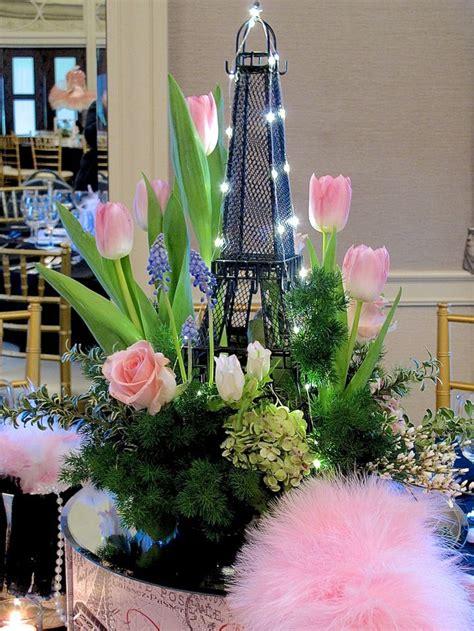 april  paris centerpieces   spring party