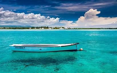 Mauritius Wallpapers Island Water Sea Boat