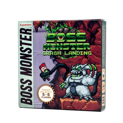 You must outbid every other player so that you can build the most enticing dungeon in order to lure unlucky adventurers and steal their souls. Boss Monster: Crash Landing 5-6 Player Expansion   Across the Board Game Cafe