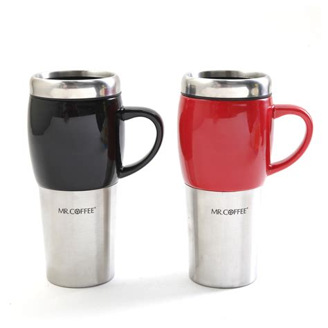 This video was inspired by the. Mr. Coffee Traverse 2 Pack 16oz Travel Mug & Lid, Black & Red