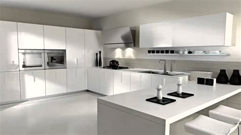 Modern Kitchen Designs With Island - مطابخ باللون الأبيض youtube