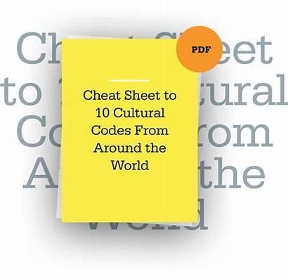 Cultural Codes Sheet Cheat Around Culture Comfort