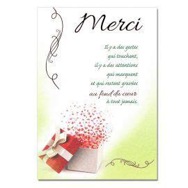 mot de remerciement mariage carte de remerciements une carte pour toi
