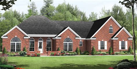 classic brick beauty  options mm architectural designs house plans