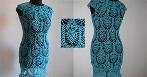 Free Crochet Patterns And Video Tutorials  How To Crochet Pineapple Dress Tunic With Owls Free
