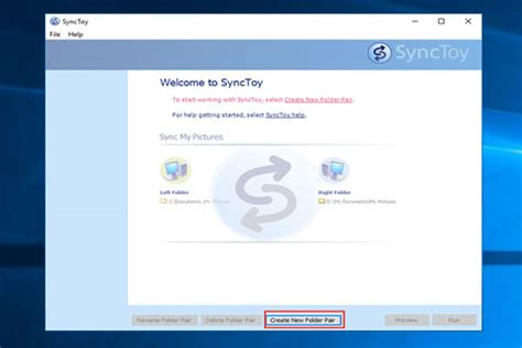 synctoy windows   file sync   details