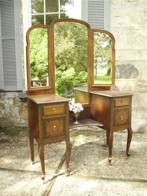 vintage makeup vanity antique vanity with dressing mirror traditional