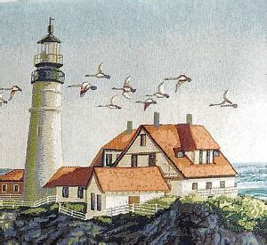 tapestry wall hanging lighthouse keeper sea ocean woven fine art decor woven ebay