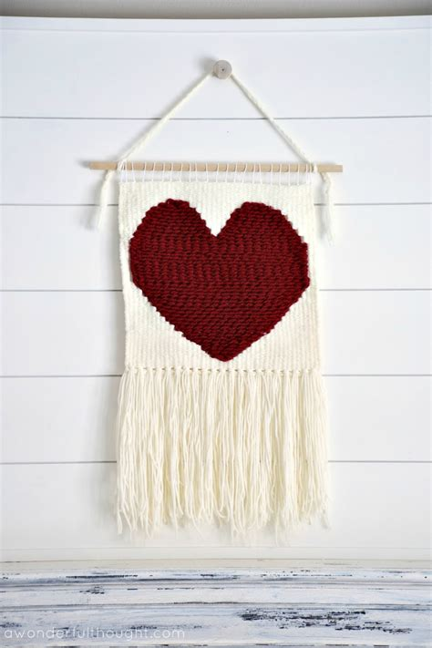 simple heart weaving wall hanging  wonderful thought