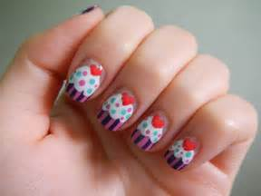 pretty nail designs cupcakes nails nail designs picture