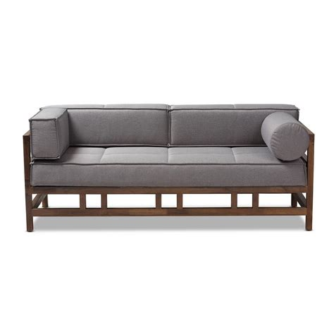 baxton studio shaw gray fabric sofa   hd