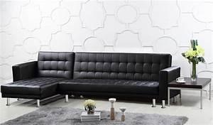Hawthorn, Corner, Multi, Functional, Sofa, Bed, Pu, U0026, Pvc, Black