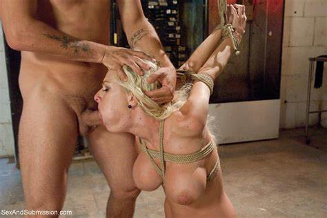 Tied Lady Poundings Drilling Brutally