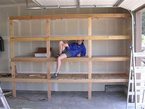 Garage Shelving Ni by Diy Garage Shelves For Your Inspiration Diy Garage