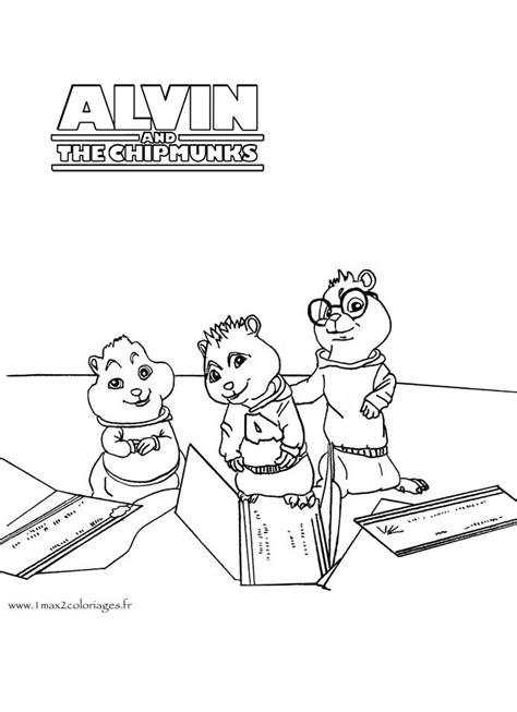 coloriage bureau images of coloriage alvin et les chipmunks sur le bureau