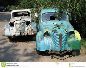 Two Old Cars Stock Images Image 1101754