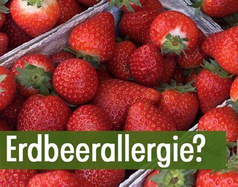 erdbeerallergie erdbeeren allergie allergie symptome