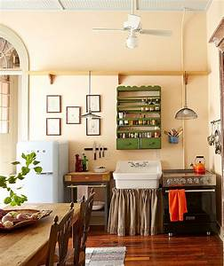 50 fabulous shabby chic kitchens that bowl you over With kitchen cabinets lowes with new orleans themed wall art