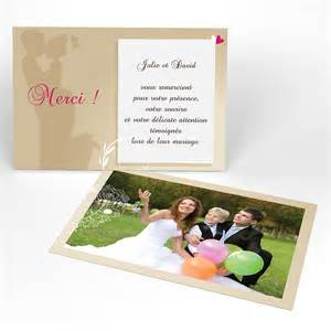 texte carte de remerciement mariage carte de remerciement youpi 1 fille 1 garçon mariage rectangle simple