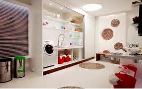 Basement Laundry Room Interior Remodel Candy Colorful Bright Basement Laundry Room Interior Design