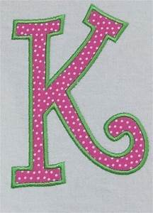 118 best k is forme images on pinterest letters With letter embroidery machine