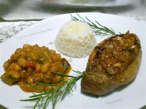 piment cuisine recettes de magret de canard et piment d 39 espelette