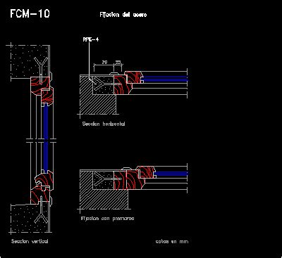 wood window fixed  beton wall detail dwg detail  autocad designs cad