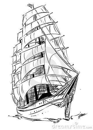 Old Sailing Ship Drawings | SAIL | Ship drawing, Sailing ships, Ship